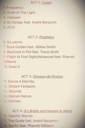 Kid Cudi Shares Tracklist for Forthcoming Album